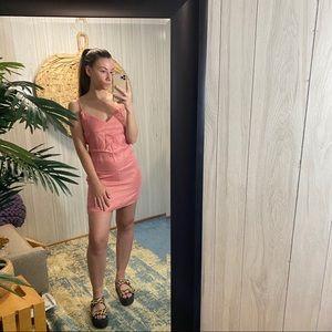 NEW Zara Pink Dusty Rose Slip Dress S
